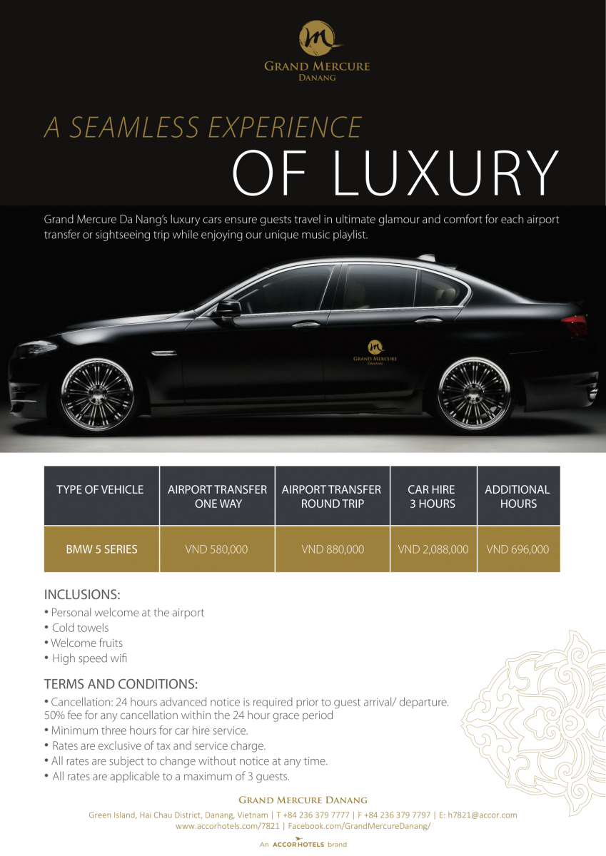 Grand Mercure Danang Luxury Car Rental Service